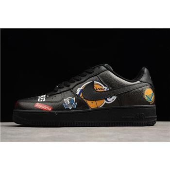 Supreme x Nike Air Force 1 Low NBA Black Men's and Women's Size For Sale
