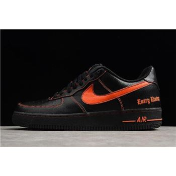 VLONE x Nike Air Force 1 Low Black Orange AA5360-001 Free Shipping