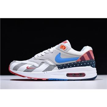 2018 Parra x Nike Air Max 1 White Multi White/Pure Platinum AT3057-100