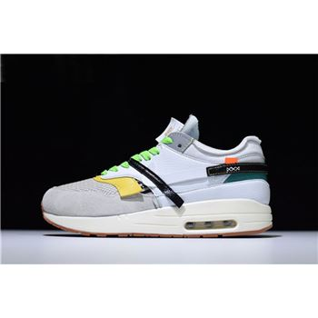online store 807b3 85737 BespokeIND Nike Air Max 1 Custom White Grey Virgil Abloh s Off-White  A7293-100