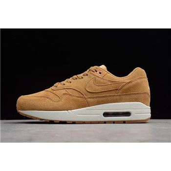 Nike Air Max 1 Premium Wheat Flax/Flax-Sail-Gum Medium Brown 875844-203