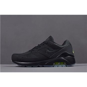 Nike Air Max 180 Black/Volt Men's Runner Shoes AQ6104-001