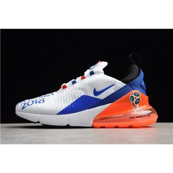 Men's Nike Max 270 FIFA World Cup Air Russia 2018 White/Racer Blue-Orange