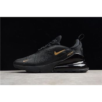 Nike Air Max 270 Black Gold AH8050-007 Men's Size Shoes