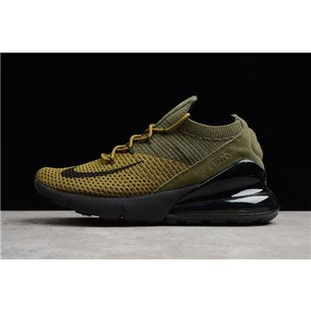 Nike Air Max 270 Flyknit Olive/Black-Yellow Men's and Women's Size AO1023-003