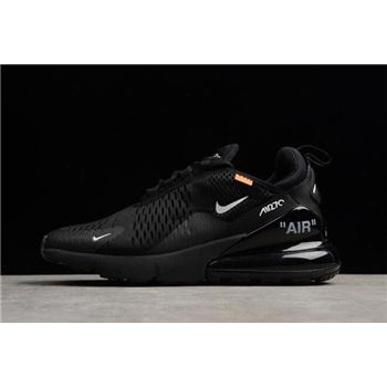 Off-White x Nike Air Max 270 Black/White Men's and Women's Running Shoes AA8058-001