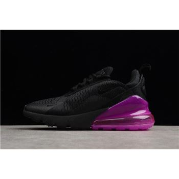 Women's Nike Air Max 270 Black Purple Running Shoes AH6789-106