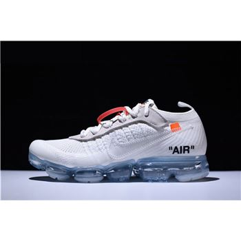 2018 Virgil Abloh Off-White x Nike Air VaporMax White/Black/Total Orange AA3831-100