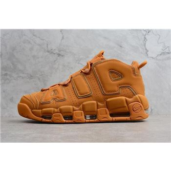 Nike Air More Uptempo Reflective Wheat Flax Gum Men's Basketball Shoes