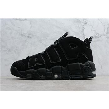 Nike Air More Uptempo Triple Black Men's Size Shoes 414962-004