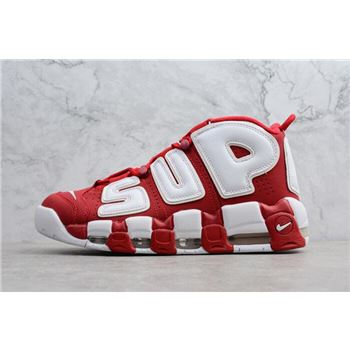 sale retailer 3636e 7d984 Supreme x Nike Air More Uptempo Red White Men s Shoes 902290-600