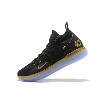 Nike KD 11 Black Gold Kevin Durant Basketball Shoes