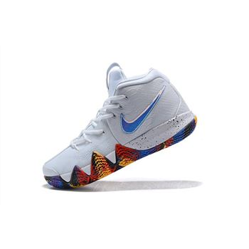 Men's Nike Kyrie 4 NCAA March Madness White/Multi-Color 943806-104