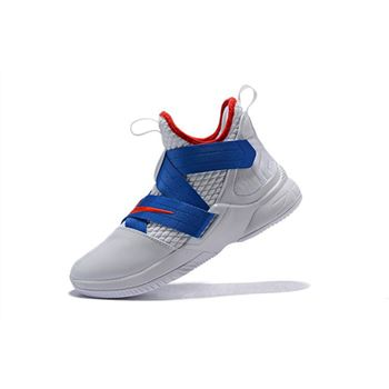 Nike LeBron Soldier 12 White/Blue-Red Men's Basketball Shoes