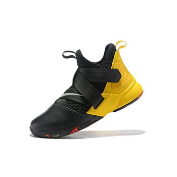 Nike LeBron Soldier 12 Black/Yellow Men's Basketball Shoes