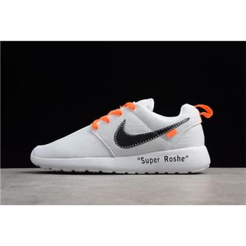 Off-White x Nike Roshe Super Run White/Black-Orange Running Shoes