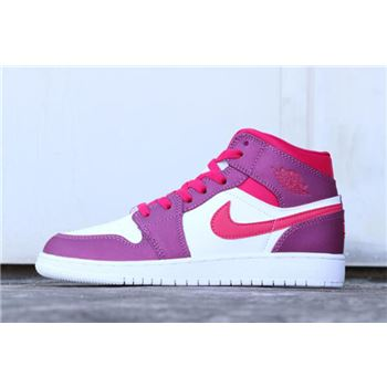 Air Jordan 1 Mid GS True Berry/Rush Pink 555112-661