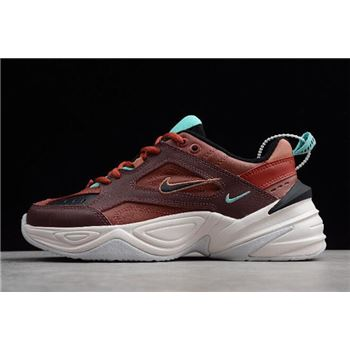 Womens Nike M2K Tekno Mahogany Mink/Black-Burnt Orange AO3108-200