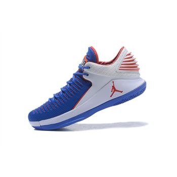 New Air Jordan 32 XXXII Low Andre Drummond PE Royal White Red