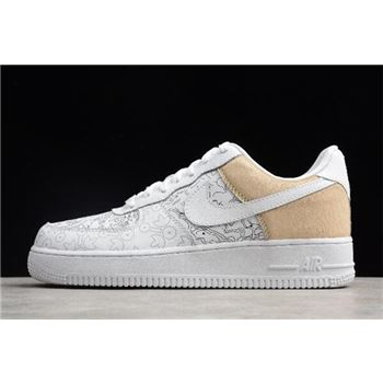Nike Air Force 1 Low PRM YOTD '18 White Grey A09281-100 For Sale